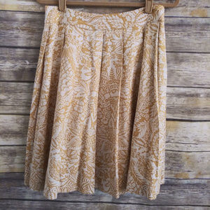 Brooks Brothers silk skirt pleated yellow size 6